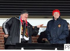 Sir Gary Hall & Club President Del Edkins