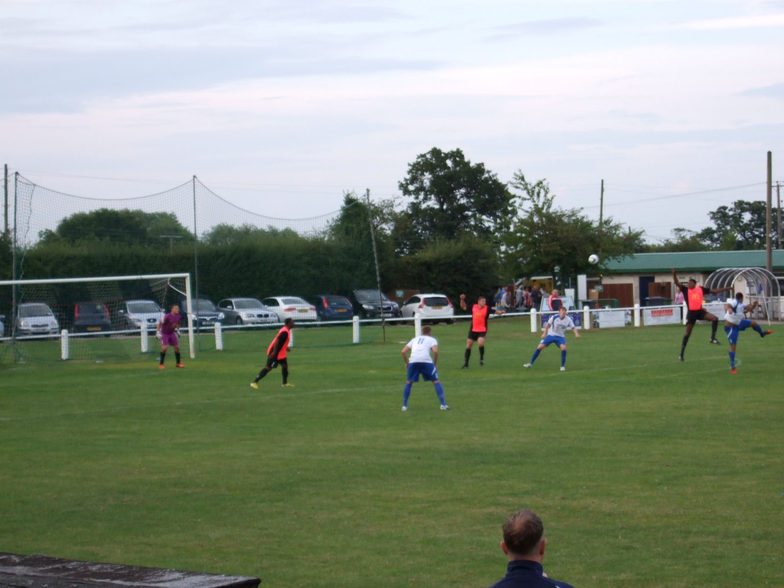 Action from the match.