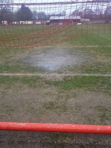 far end left goal line